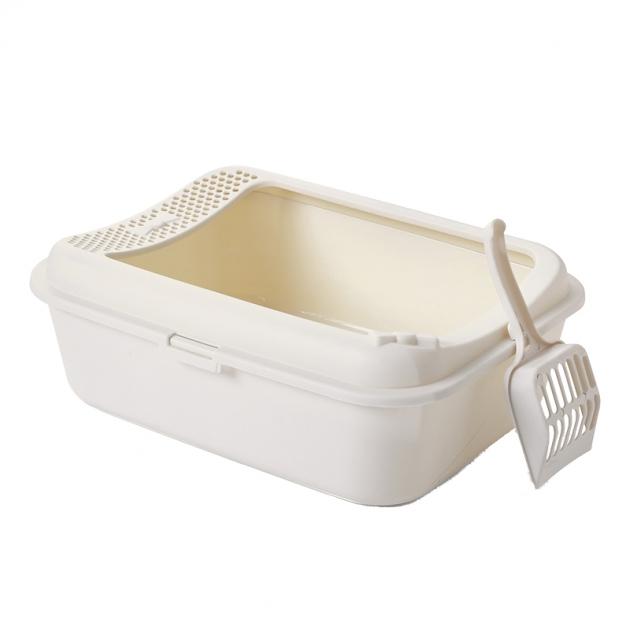 [免運]SmartPaws簡約半罩式貓砂盆(白) 1