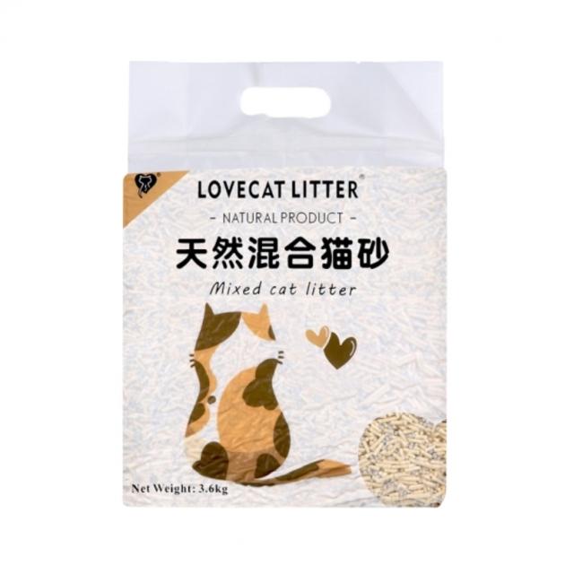 【免運】LOVECAT 天然混和砂 4包 1