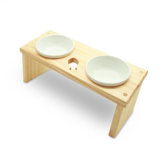 愛寵木作寵物餐桌-魚(附陶瓷碗) 1