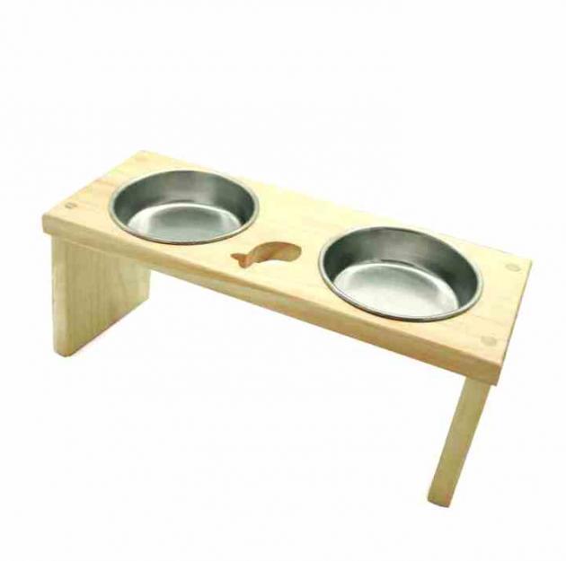 愛寵木作寵物餐桌-魚(附陶瓷碗) 2