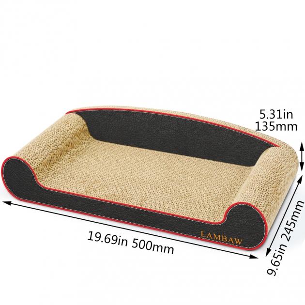 黑沙發貓抓板(長50cm) 1