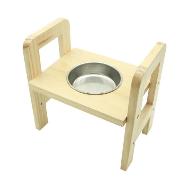 愛寵單碗寵物餐桌(附不鏽鋼碗) 1