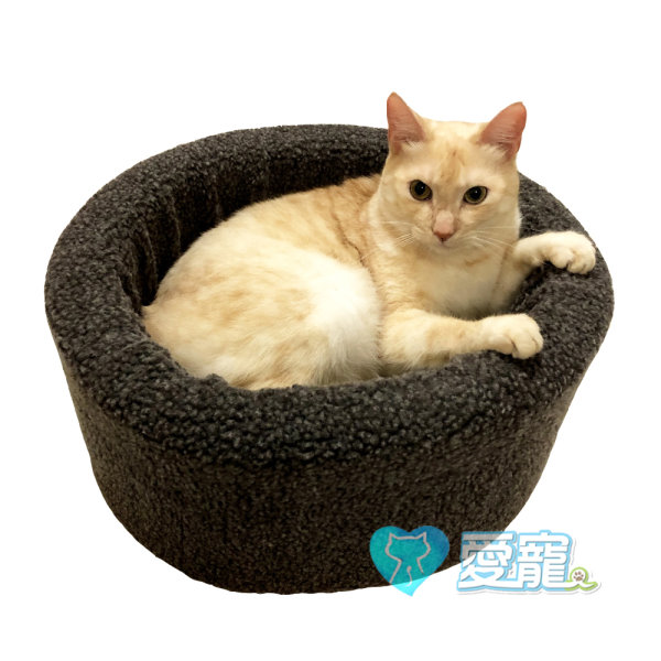 圓桶鋪棉暖睡窩(咖啡/灰) 1