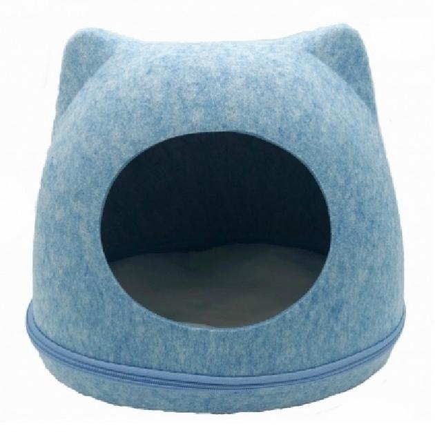 造型寵物貓窩(藍色) 1