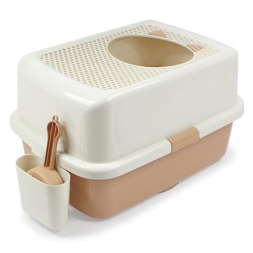 上開口式貓砂盆(拿鐵咖啡) 1