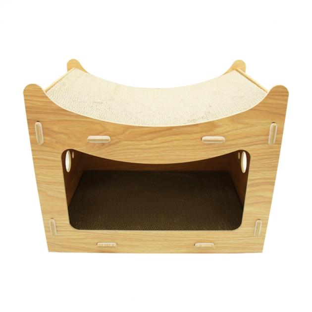 組合式木板貓抓屋 1